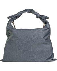 Borbonese Desert Hobo Shoulder Bag - Grey