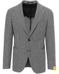 Tagliatore Double-breasted Houndstooth Blazer - Black