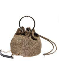 Borbonese Small Op Bucket Bag - Brown