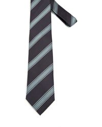 Brioni Regimental Silk Tie - Gray