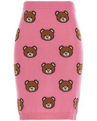 Moschino Gonna Teddy Bear All-Over Fucsia - Rosa