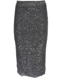 Michael Kors Micro Sequins Skirt - Black