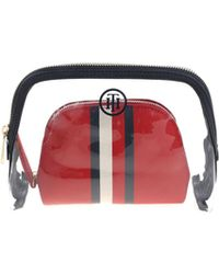"""Tommy Hilfiger Transparent And Red """"honey 2 In 1"""" Beautycase"""