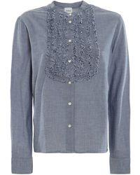 Aspesi Cotton Chambray Shirt - Blue