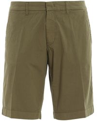 Fay Cotton Bermuda Shorts - Green