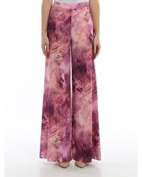 Moschino Printed Cady Palazzo Trousers - Pink
