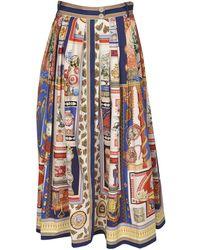 Etro Multicolor Print Long Skirt