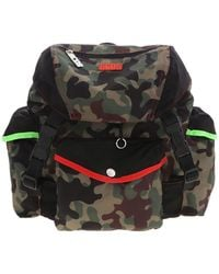 Gcds Camouflage Backpack - Green