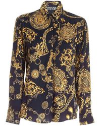 Versace Jeans Couture Regalia Baroque Print Shirt - Black