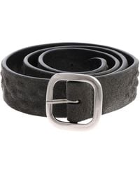 """Orciani - """"cloudy"""" Charcoal Grey Belt - Lyst"""