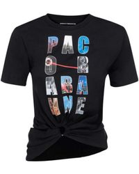 Paco Rabanne City Cropped T-shirt - Black