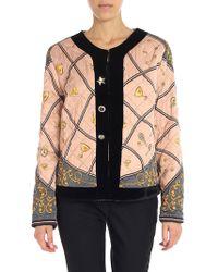 Shirtaporter - Pink Diamond Pattern Jacket - Lyst