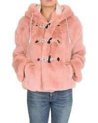 Golden Goose Tsubaki Faux Fur In Pink