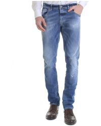 Dondup - Ritchie Destroyed Jeans In Blue - Lyst