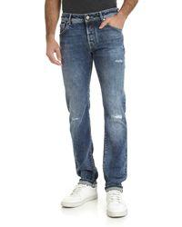 Jacob Cohen Jeans blu effetto delavé