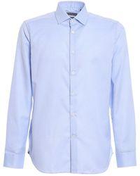 Corneliani Cotton Shirt - Blue