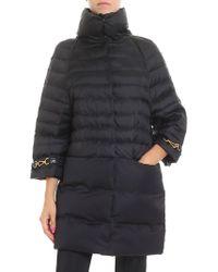 Elisabetta Franchi - Black Overfit Down Jacket - Lyst