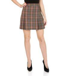 Jucca - Pleated Tartan Skirt - Lyst