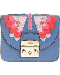 Furla - Light Blue Metropolis Bag With Butterfly Detail - Lyst