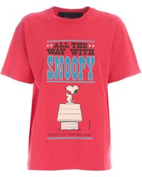 Marc Jacobs T-Shirt All The Way With Snoopy Rossa - Bianco