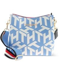 Tommy Hilfiger Iconic Tommy Bucket Bag - Blue