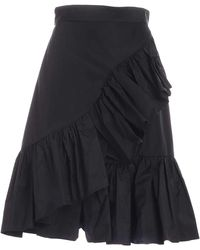 MSGM Ruffles Skirt - Black