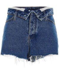 Alexander Wang Bite Flip Denim Shorts - Blue