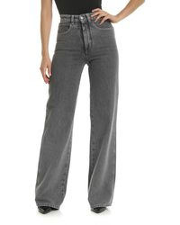 Alberta Ferretti Grey Cotton Jeans
