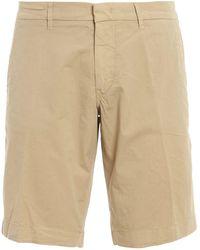 Fay Stretch Cotton Bermuda Shorts - Natural