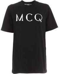 McQ Contrasting Logo Print T-shirt - Black