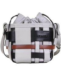 Vic Matié Mini Bucket Bag Inga - Grey
