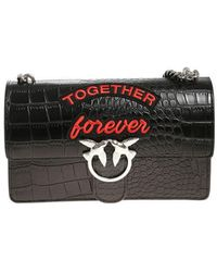 Pinko White Love Together Forever bag