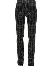 Alexander McQueen Pantaloni A Quadri - Nero