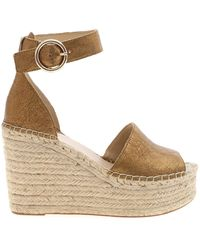 Guess Kaleey Wedges In Bronze Leather - Multicolour