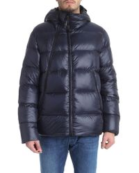 C P Company - Blue Hooded Down Jacket With Glasses - Lyst