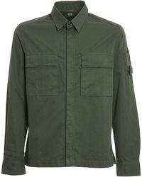 C.P. Company - Cotton Gabardine Shirt - Lyst