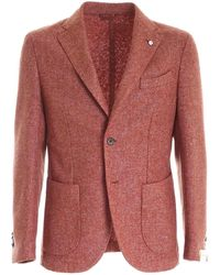 L.B.M. 1911 Single-breasted Jacket - Red