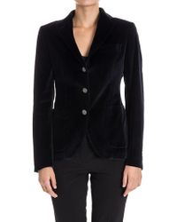 Tagliatore - Cotton And Viscose Jacket - Lyst