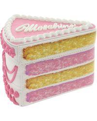 Moschino Clutch Piece Of Cake Multicolore - Rosa