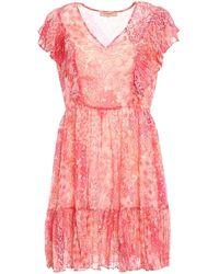 Twin Set - Floral Pattern Creponne Dress - Lyst