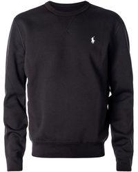 Ralph Lauren Black Cotton Blend Sweatshirt
