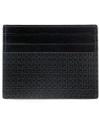 Ferragamo Leather Card Holder - Black
