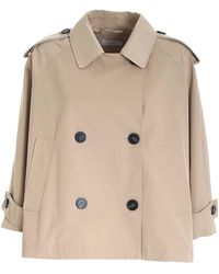 Peserico Double-breasted Trench Coat - Natural