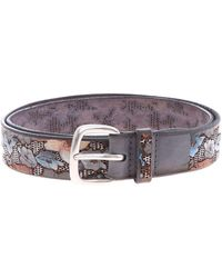 Orciani Belt With Flowers - Multicolour