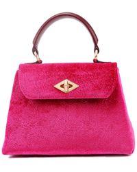 Ballantyne Diamond Small Velvet Bag - Pink