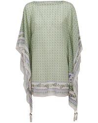 Tory Burch Sleeveless Cotton-silk Caftan - Green