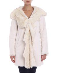 Clips - White Hooded Coat - Lyst