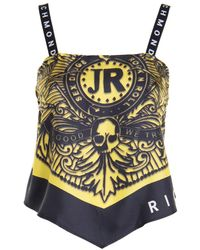 John Richmond Satin Silk Tank Top - Yellow