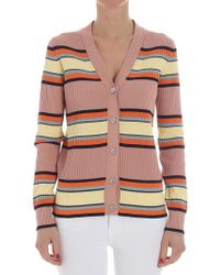 Paul Smith - Antique Pink Ribbed Cardigan - Lyst