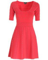 Elisabetta Franchi All-over Studs Dress - Pink